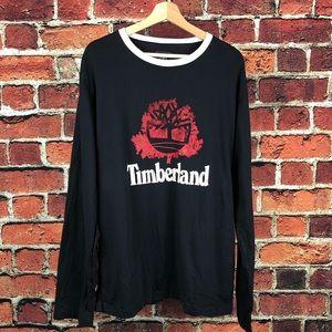 Timberland Long Sleeve Black Mens T-shirt